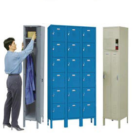 Penco Vanguard™ Steel Locker With Latching Pull Handle Ready To Assemble