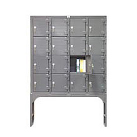 Strong Hold® Heavy Duty 16 Personal Cell Storage Locker 54-16D-120KL
