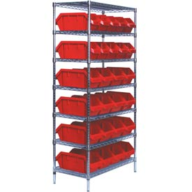 Chrome Wire Shelving With Quickpick Double Hopper Bins