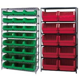 Shelving With Magnum Giant Hopper Bins