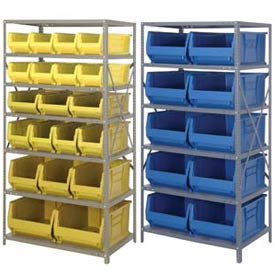 "24 Inch Deep Steel Shelving With 24""D Jumbo Bins"