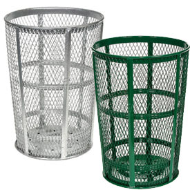 Outdoor Steel Mesh Trash Receptacles
