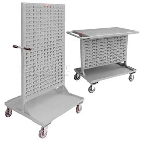 All Welded Steel Mobile Double Sided Bin Racks