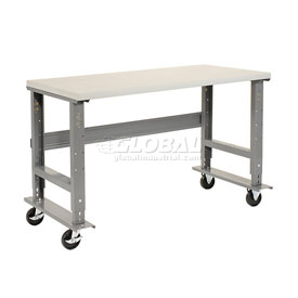 Mobile Adjustable Height Workbench