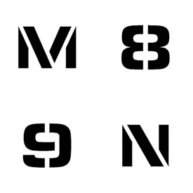 Individual Number And Letter Stencils
