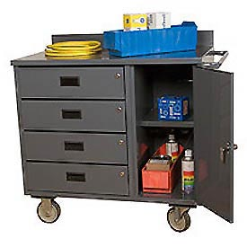 Mobile Bench Cabinets W/ Drawers