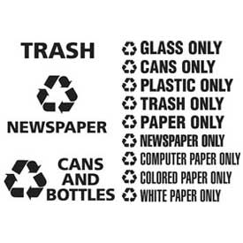 Rubbermaid® Recycling Decals and Waste Stream Labels