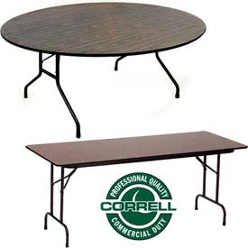 Correll - Melamine Top Folding Tables - Fixed & Adjustable Height