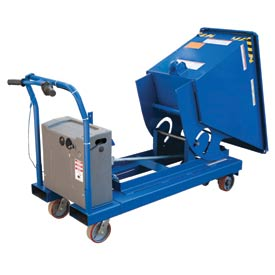 Vestil Portable Steel Hopper with Power Traction Drive