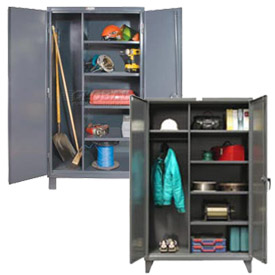 All-Welded Heavy Duty 12 Gauge Combination and Janitorial Cabinets