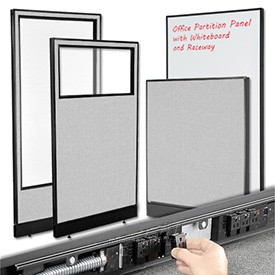 Interion™ Standard Partition Panels with Powered and Non-Powered Base