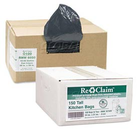 Webster ReClaim™ Recycled Trash Can Liners & Garbage Bags