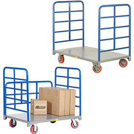 Twin-Handle Steel Deck Platform Trucks