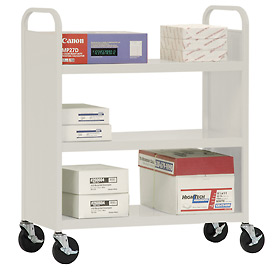 Sandusky® Welded Flat Shelf Mail & Office File Carts
