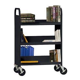 Sandusky® Welded Combination Book Carts - Flat Top Shelf