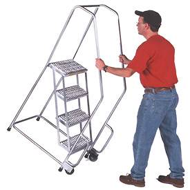 Aluminum Tilt And Roll Ladders