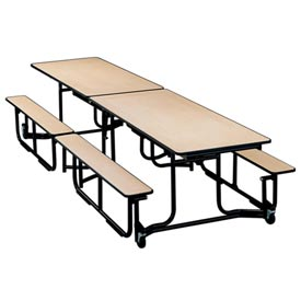KI Uniframe® Portable Mobile Cafeteria Table With Benches