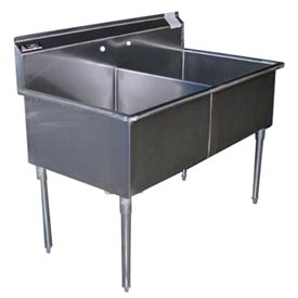 Freestanding Multiple Compartment Stainless Steel Sinks Without Drainboards