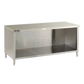 Economy Flat Top Work Tables With Galvanized Enclosure