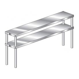 Economy Stainless Steel Double Riser Shelves