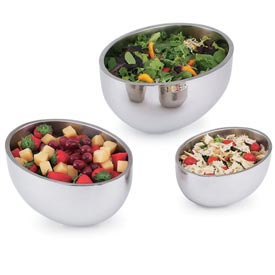 Stainless Steel Oval Bowls