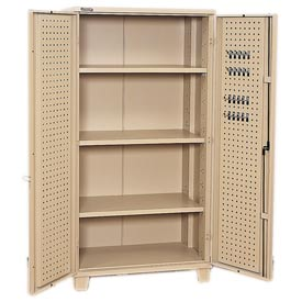 Kennedy® All Welded Storage Cabinet With Pegboards