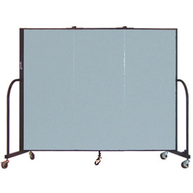 Screenflex® - Vinyl Upholstered Mobile Room Dividers - 4 Ft Height