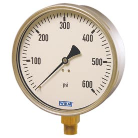 "Wika® Stainless Steel 6"" Industrial Pressure Gauges"