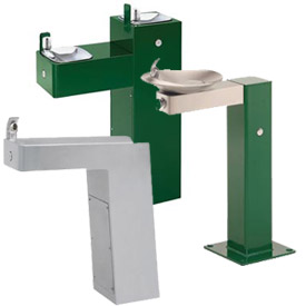 Haws® Galvanized Barrier-Free Pedestal Drinking Fountains