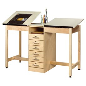 Diversified Woodcrafts -  Two-Station Drawing & Drafting Tables
