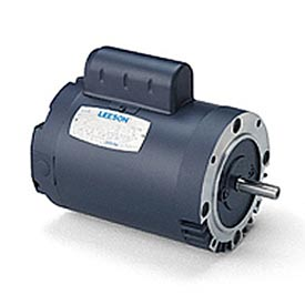 Leeson Instant Reversing Motors, C Face Less Base, Single-Phase, Drip-Proof