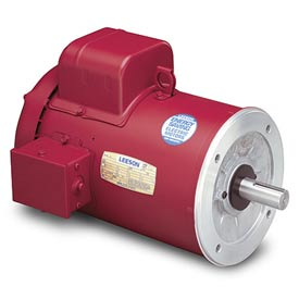 Leeson High Torque Motors, C Face Less Base, Single-Phase, TEFC