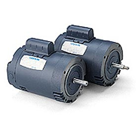 Leeson Pool Motor, Cast Iron C Face Less Base, Single-Phase, Drip-Proof