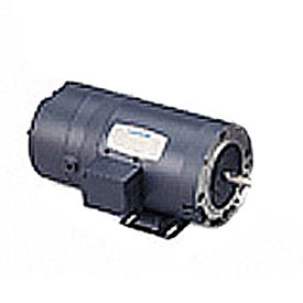 Leeson Brake Motors, Three-Phase, Drip-Proof, C Face With Base