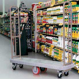 Winholt® U-Boat® Plastic Deck Narrow Aisle High End Platform Truck