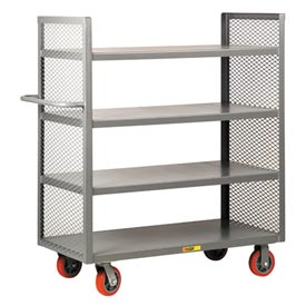 Two-Sided Steel Shelf Trucks with Mesh End Panels