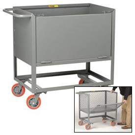 Little Giant® Raised Platform Trucks with Drop-Gate