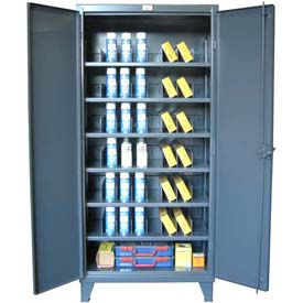 Strong Hold® All-Welded Heavy Duty Divider Storage Cabinets