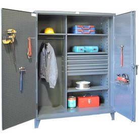 Stronghold® Heavy Duty Combination Cabinet With Pegboard Doors
