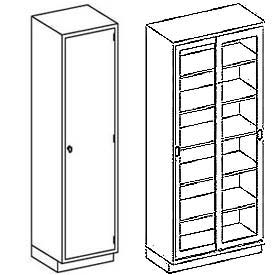 Blickman 5 Shelf Medical Cabinets
