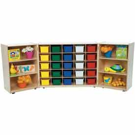 Mobile Tri-Fold Cubby Storage Units