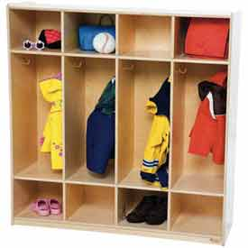 Wood Finished Kids Coat Lockers