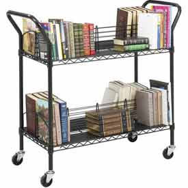 Safco® Double-Sided Wire Book Cart