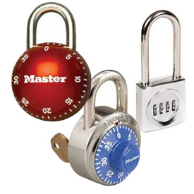 Security Front Faced Combination Padlocks