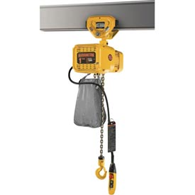 Harrington NERP Dual Speed Electric Chain Hoists with Push Trolley