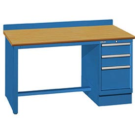 Technical Workbench with Panel Leg & Cabinet Pedestal