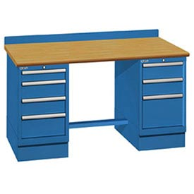 Technical Workbench with Two Cabinet Pedestals