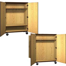 Ironwood Mobile Wood Wardrobe Cabinets