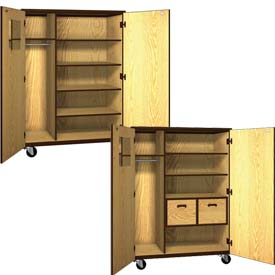 Ironwood Mobile Wood Teachers Storage Cabinets