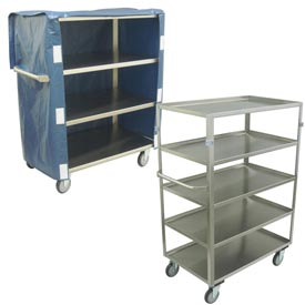 Jamco Medium Duty Stainless Steel Shelf Trucks - 600 Lb. Capacity